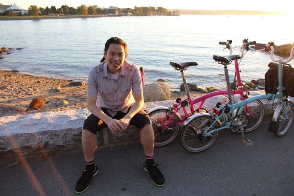 Me on the English Bay in Vancouver, BC.