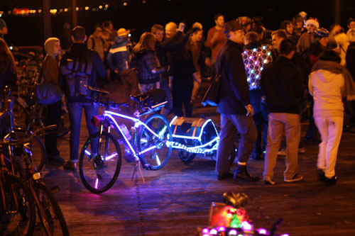 The brightest and best in show bike that night was the one shown here.  It was actually bright enough to be seen blocks away.