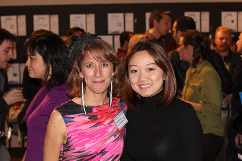 Leah Shahum, Executive Director of the SFBC, takes a photo with an SFBC member.