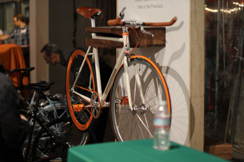One of the auction items was a nice fixie from Mission Bicycle Company.