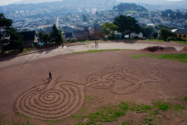 A flower maze in Bernal Heights Park - courtesy of Nina Stawski