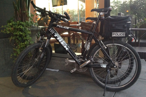 Police bikes in SF.