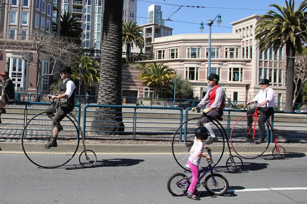 Penny Farthings that kids could only imagine to ride.