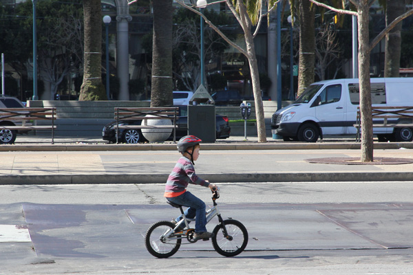 Ever seen a kid with so much room to ride as fast as possible?