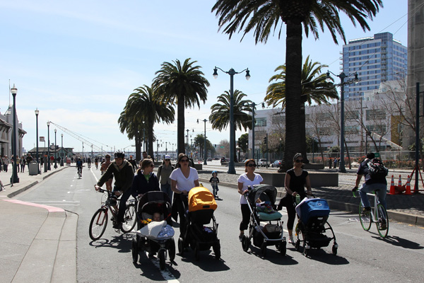 Ever wonder how many strollers would fit the width of a car lane?