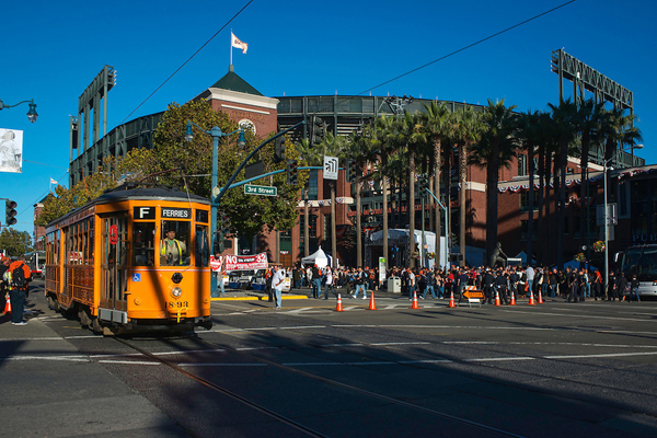 Outside of the entrance to AT&T Park. (Image courtesy of sfmta.photoshelter.com)