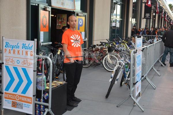 SFBC Bike Parking Valet at AT&T Park. (Image courtesy of demotix.com)