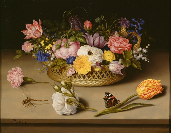 Ambrosius Bosschaert the Elder - Dutch Flower Still Life. Image courtesy of Wikipedia.