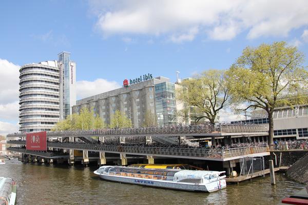 bike station near Amsterdam Central