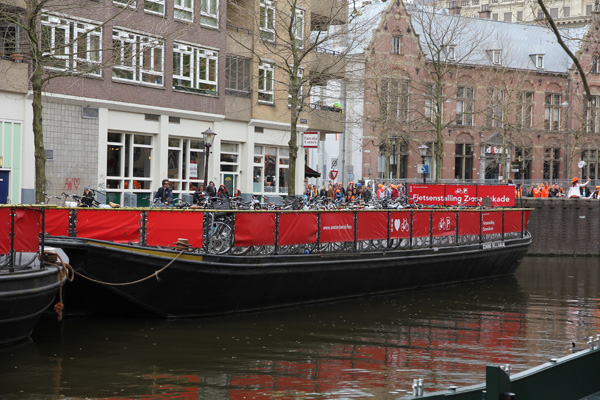 Bike parking on a boat. Clever!