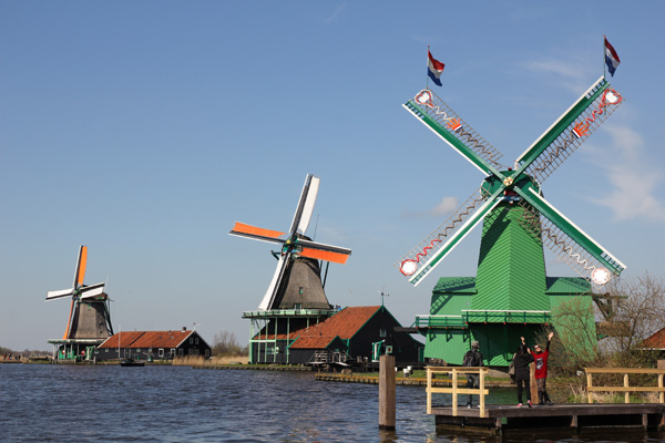 Zaanse Schans, a cute and charming village north of Amsterdam.