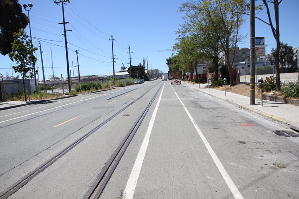 Another set of abandoned tracks on Illinois St.