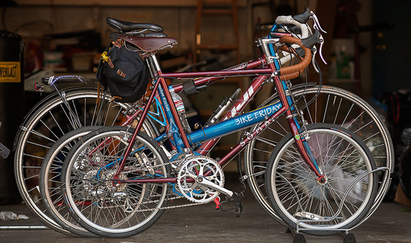 Soma Fab mini velo size relative to a folding bike and a regular sized bike.  Image courtesy of