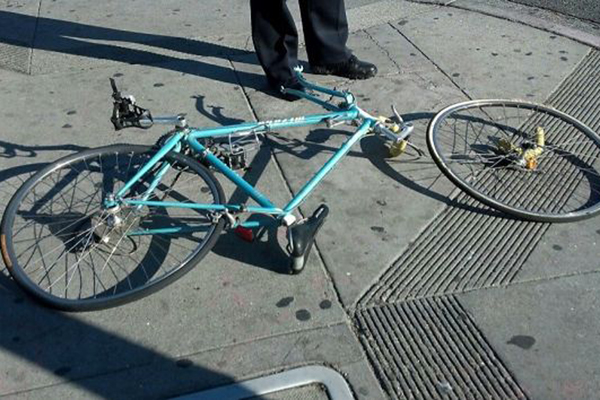 Amelie's bike.  Image courtesy of SFGate.
