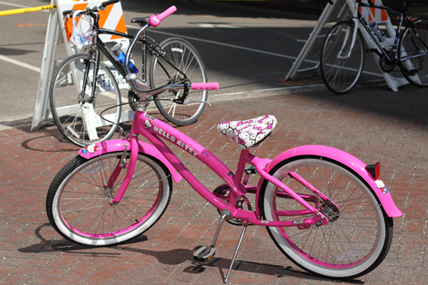 My niece's Hello Kitty bike at Ciclavia October 2012.