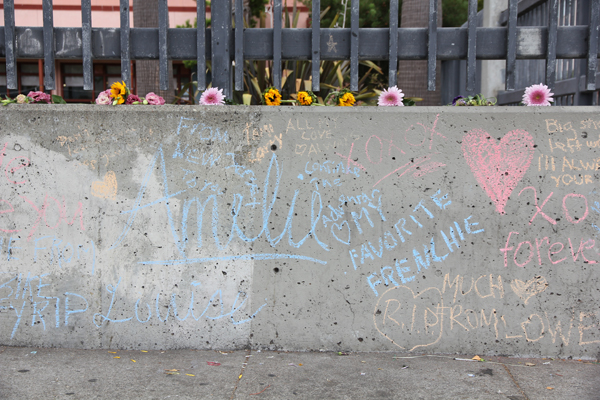 Amelie's memorial at 6th and Folsom St.