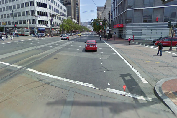 Market St. and Van Ness Ave. Image courtesy of Google Maps.