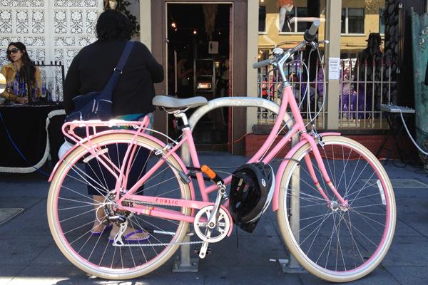 Pink bike by Public.