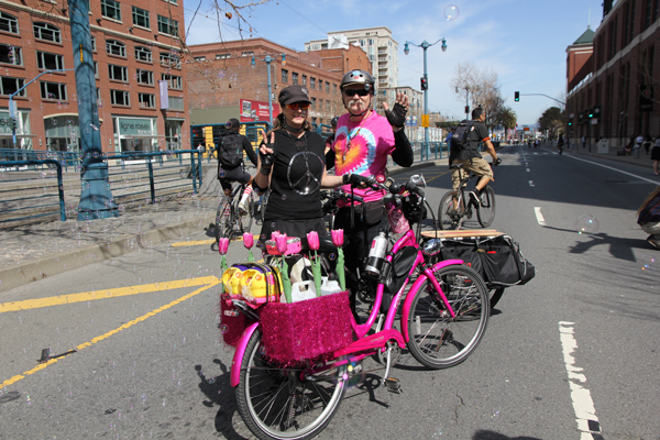 This pink Townie owned by Jill is a celebrity.
