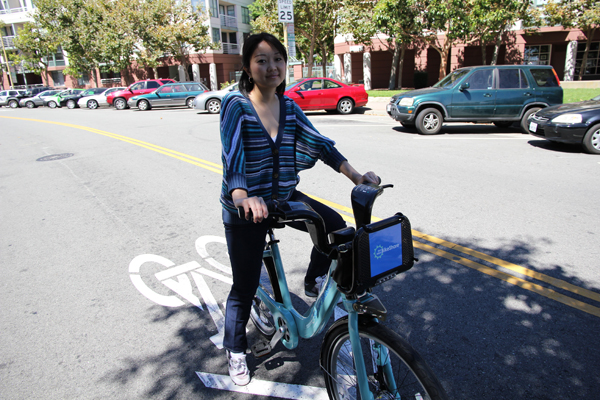 Nellie's foot is 80% better and biking is her best way to get around town.