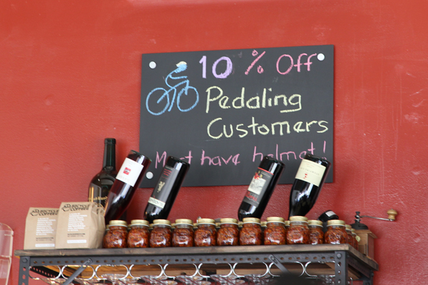 10% off to pedaling customers with helmets.