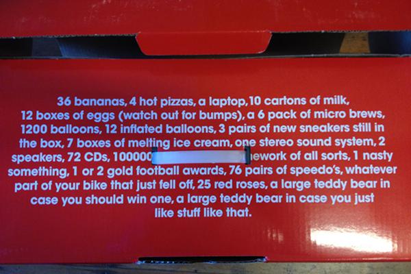 I love what's written on the box.  Yep, 36 bananas,