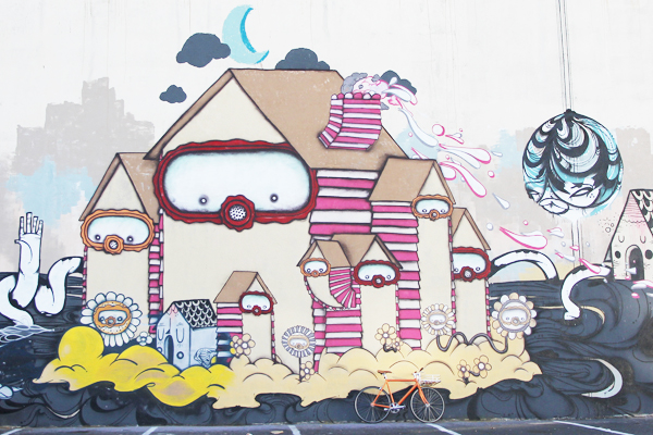 Murals are everywhere throughout the city and best discovered on a bike.