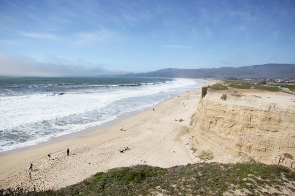 Ahh, the beautiful sea at Half Moon Bay.