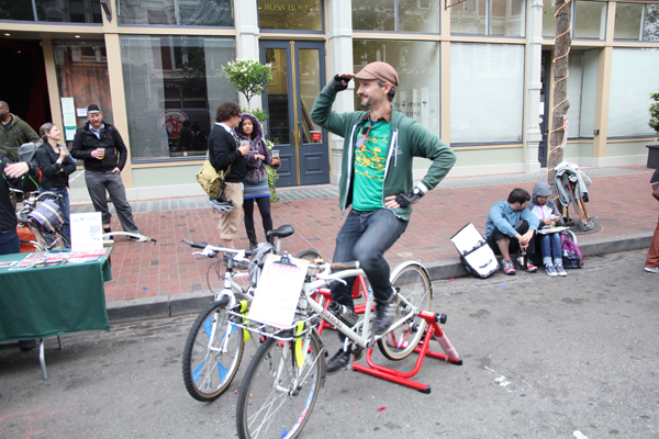 Rob Prinz, Bike East Bay's education director, training for the Climate Ride...really.