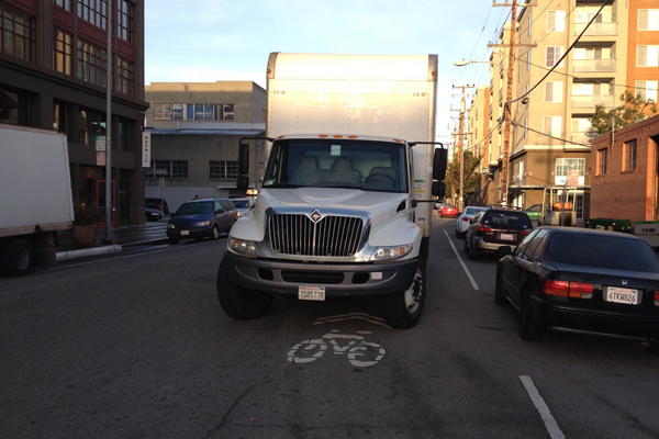 It's bad enough that we have to share the road with autos, but to even blocked on a bike sharrow road is ridiculously unspeakable.