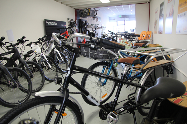 Xtracycles cargo bikes for family, headquarters in Oakland!