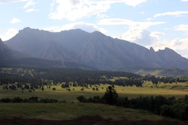 Flat Irons, near Boulder, Colorado