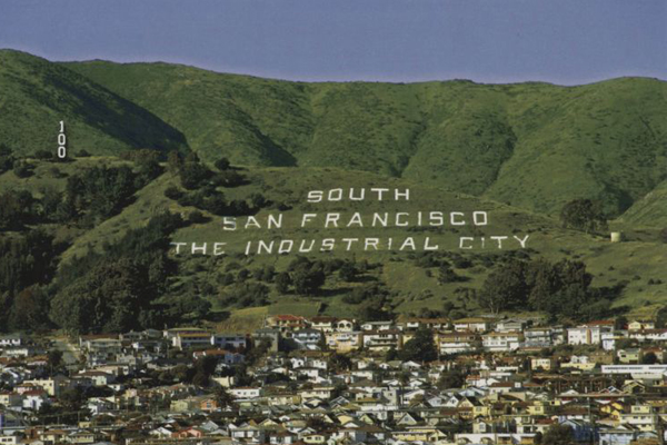 South San Francisco, the Industrial City. Courtesy of hillbabies.blogspot.com