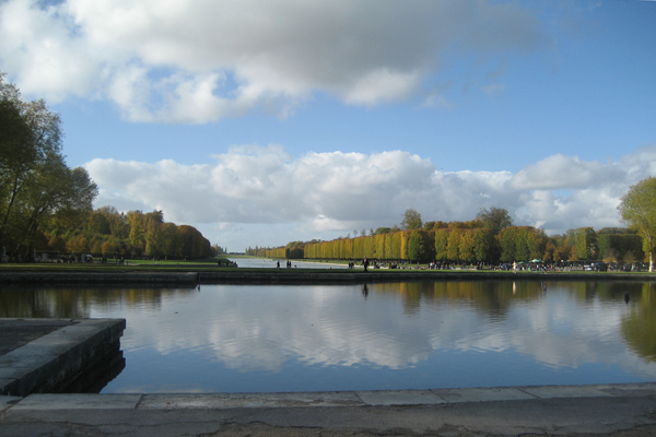 Looking out to the Gardens and Park of Versailles
