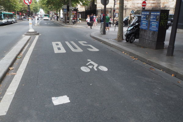 I don't understand why bikes and buses have to be mixed. They are the most opposites.