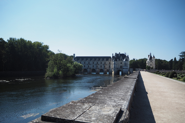 A view of Chateau de Chenonceau from Catherine's Garden.