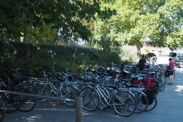 All these bikes are parked outside the Chateau - it's such a shame!