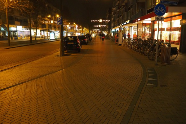 Cycle track in city center of Apeldoorn.