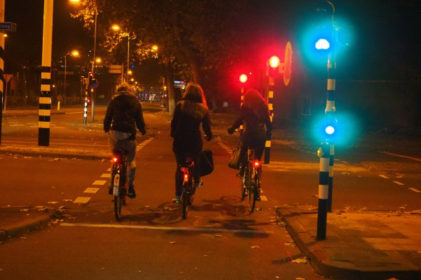 Some traffic lights for bikes sense you are coming and turns green automatically.