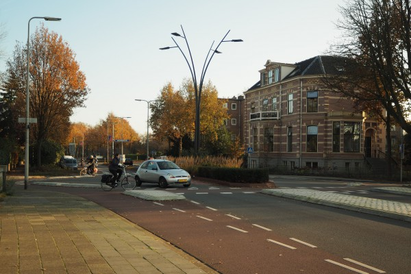 The famous roundabout in Zwolle.