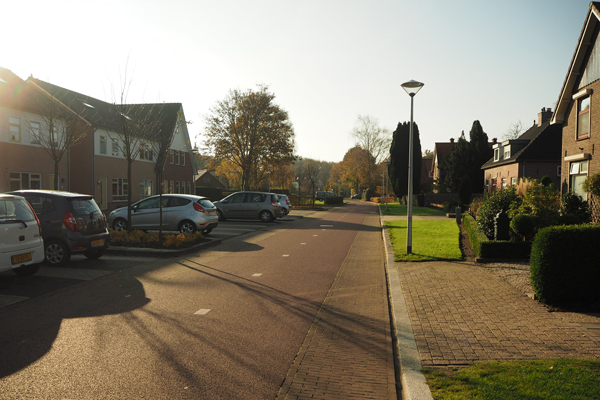 Here, cars are guests on a cycle street or fietsstraat in Dutch.