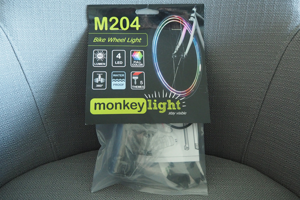 M204 bike wheel light comes with 40 lumens, it's waterproof, and has 5 themes.