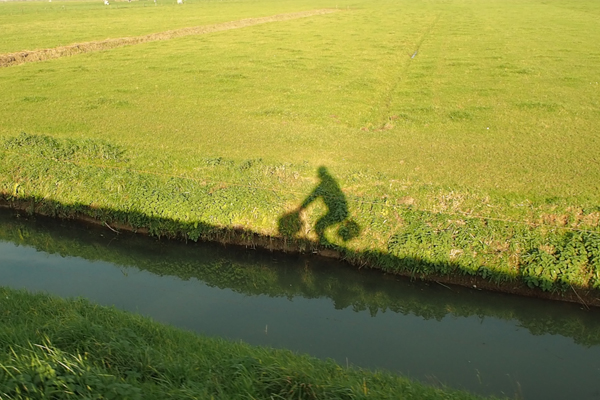 Me and my Brompton in Bike Utopia...