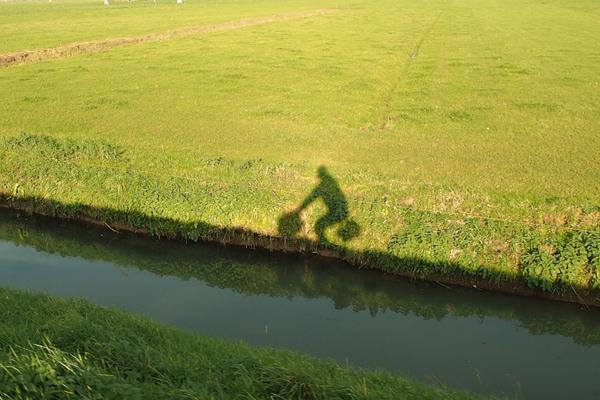 Me and my Brompton in Bike Utopia...