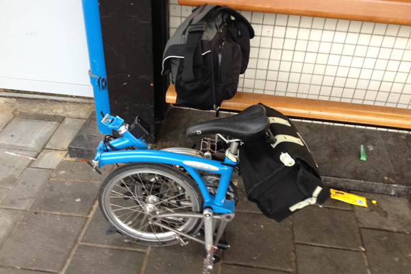 The Nelson long-flap saddlebag and the Brompton C bag were enough a month's bike trip.