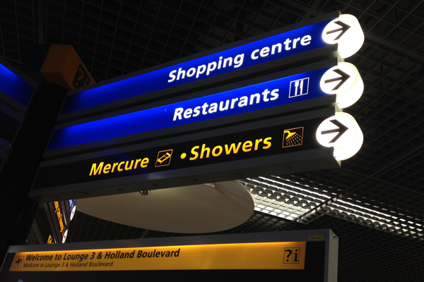 What about showers when you arrive at the airport sweaty from riding your bike?